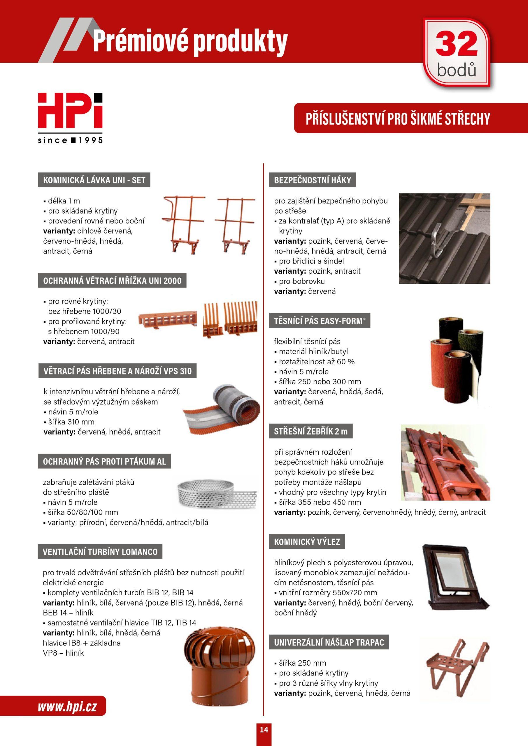Stránka prémiové produkty
